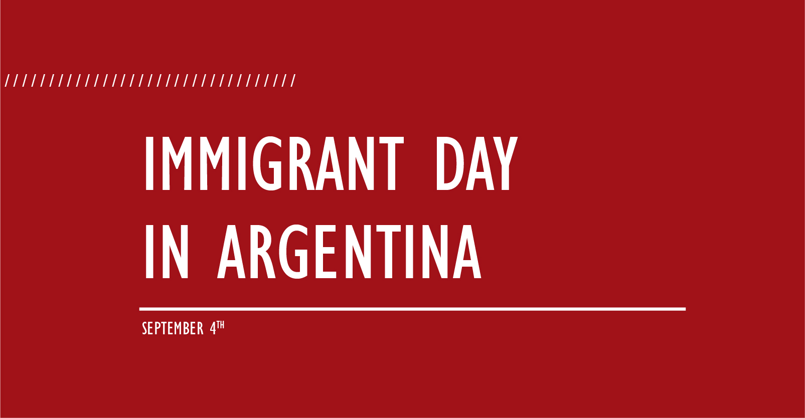 Immigrant Day in Argentina